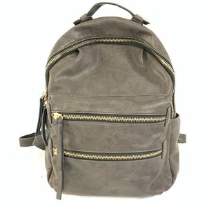 Madison West Gray large Backpack Purse